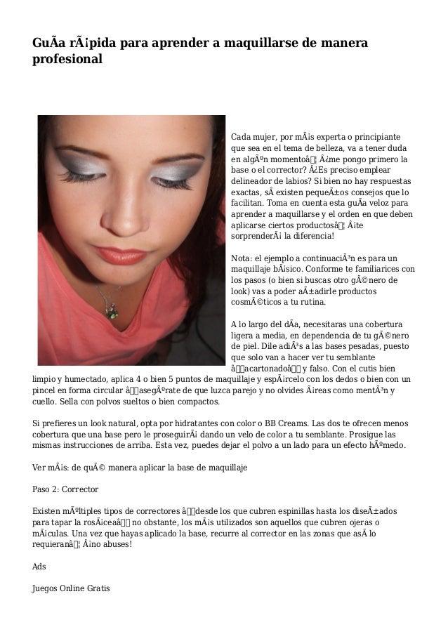 e6a0a4cb9 Guía rápida para aprender a maquillarse de manera profesional