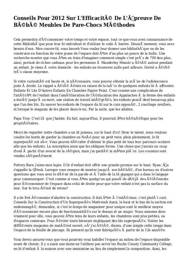 Conseils Pour 2012 Sur L'Efficacité De L'Épreuve De Bébé Meubles De Pare-Chocs Méthodes Cela permettra d'économiser ...