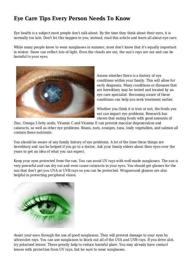 1c7d6b04c39 Eye Care Tips Every Person Needs To Know Eye health is a subject most  people don Surprisingly enough