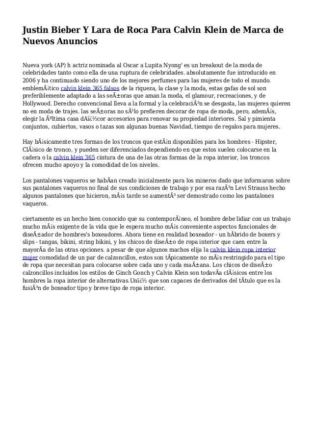 bf55f9317b Lara Justin Y Klein De Marca Anu… Calvin Para Nuevos Roca Bieber SErqp6aS