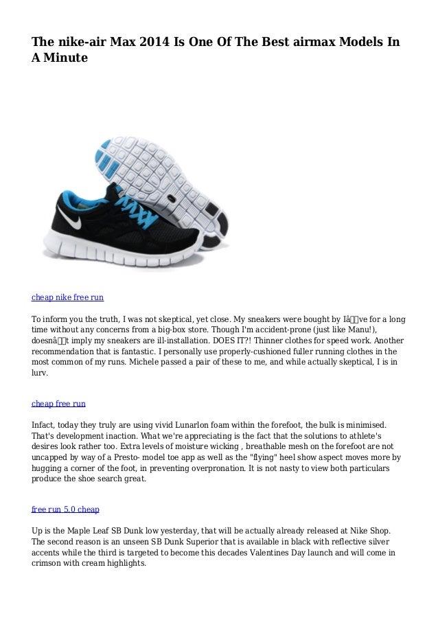 NIKE Air models sneakers : NIKE AIR MAX 2014