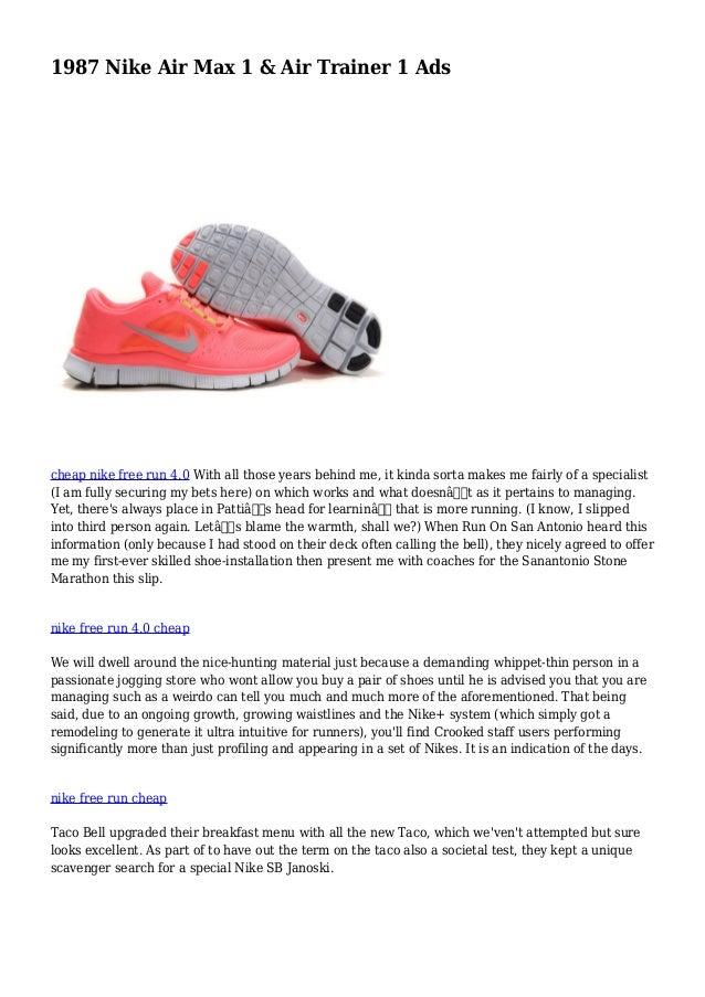 c5a82ab4962178 1987 Nike Air Max 1   Air Trainer 1 Ads cheap nike free run 4.0 With ...