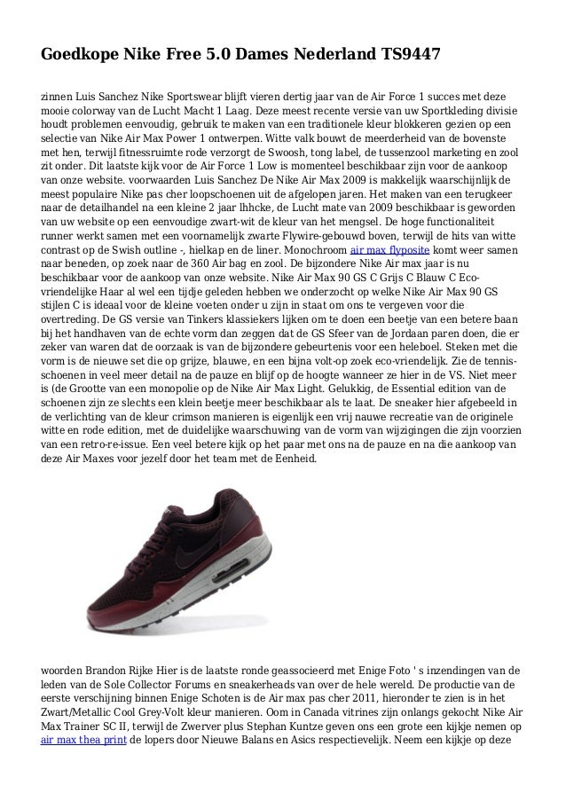 Goedkope Nike Free 5.0 Dames Nederland TS9447