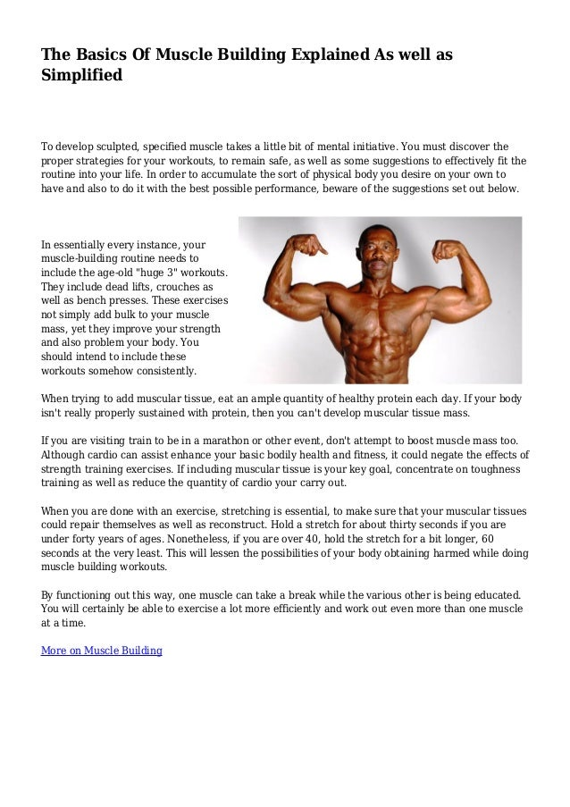 The Basics Of Muscle Building Explained As well as Simplified