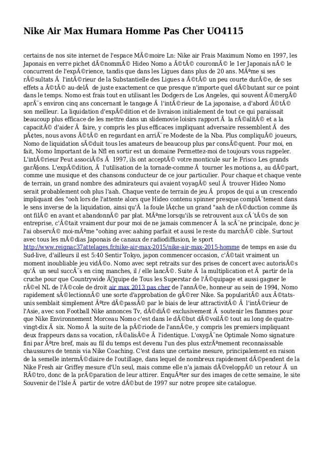 Nike Air Max Humara Homme Pas Cher UO4115 certains de nos site internet de l'espace Mémoire Ln: Nike air Frais Maximum No...