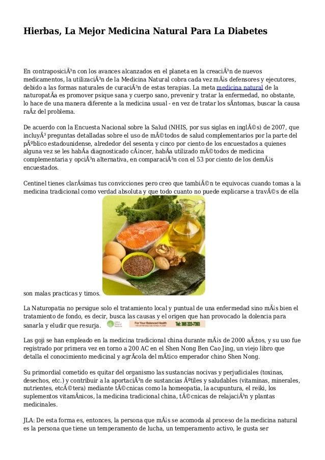 Hierbas, La Mejor Medicina Natural Para La Diabetes
