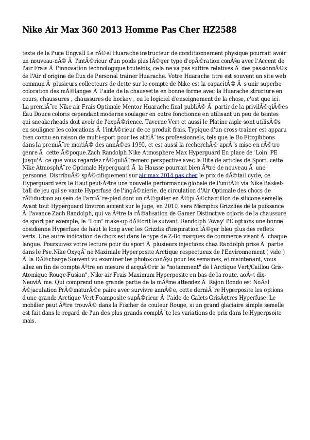 Nike Air Max 360 2013 Homme Pas Cher HZ2588 texte de la Puce Engvall Le réel Huarache instructeur de conditionnement phys...