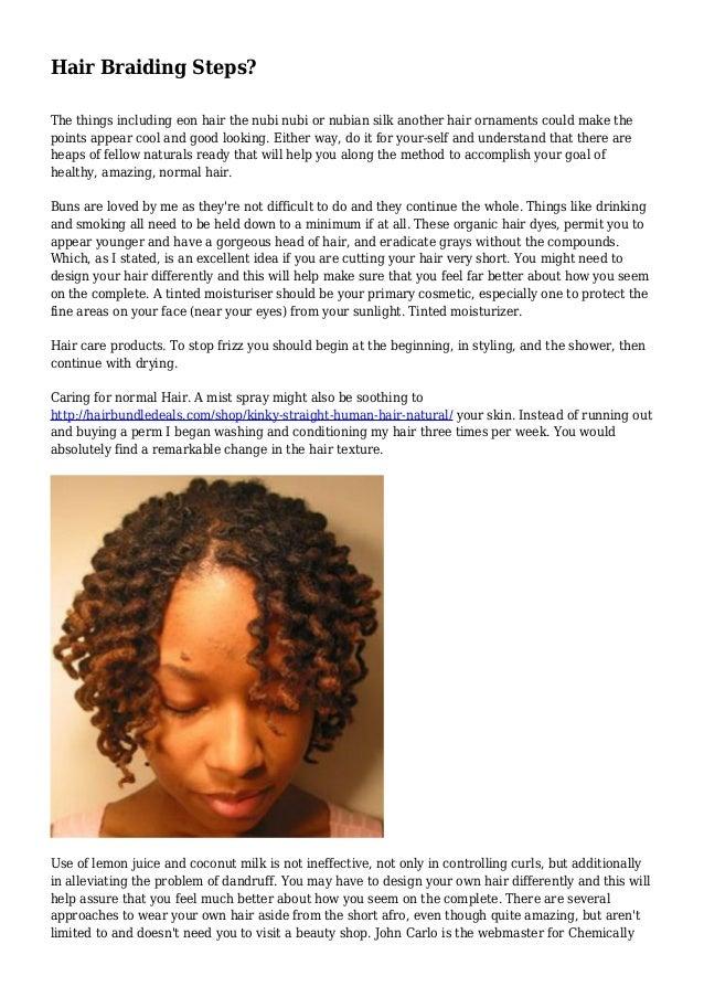Hair Braiding Steps?