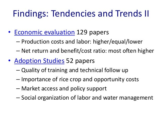 research paper on system of rice intensification