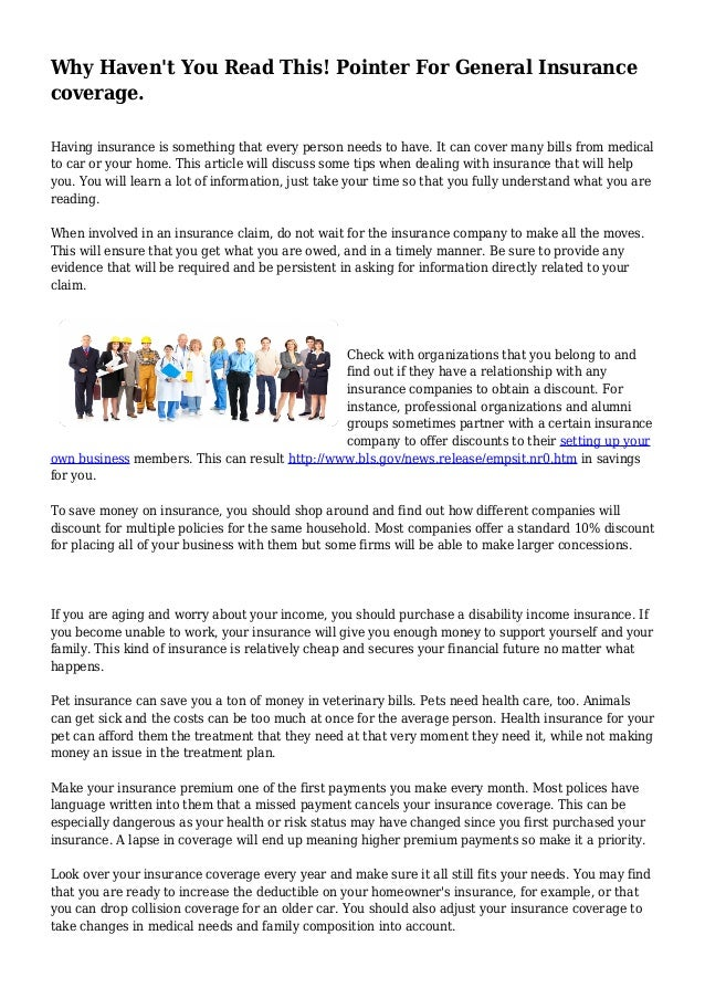 why haven\u0027t you read this! pointer for general insurance coveragepointer for general insurance coverage