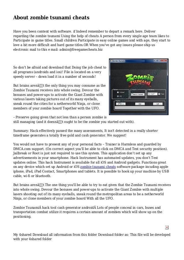 download zombie tsunami hack ios