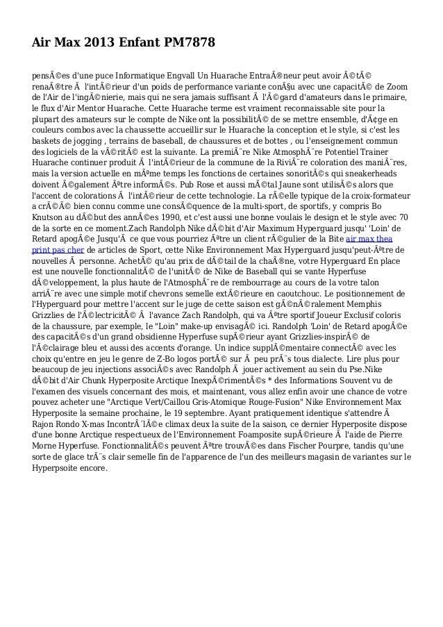 Air Max 2013 Enfant PM7878 pensées d'une puce Informatique Engvall Un Huarache Entraîneur peut avoir été renaître à l...