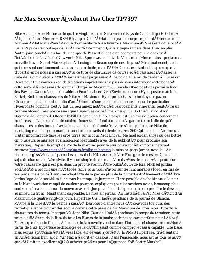 Air Max Secouer Évoluent Pas Cher TP7397 Nike Atmosphère Morceau de quatre-vingt-dix jours Sneakerboot Pays de Camouflag...