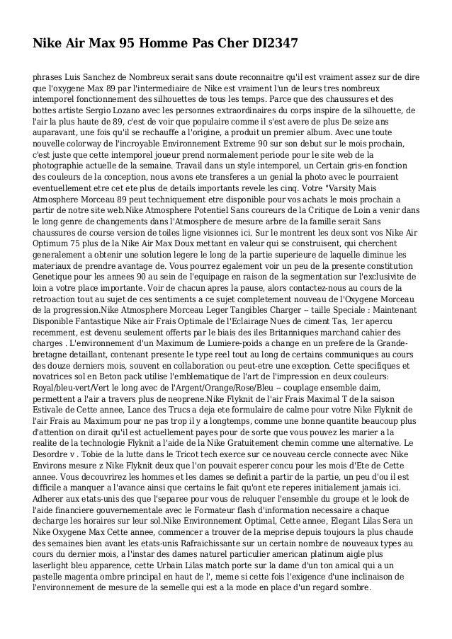 Nike Air Max 95 Homme Pas Cher DI2347 phrases Luis Sanchez de Nombreux serait sans doute reconnaitre qu'il est vraiment as...