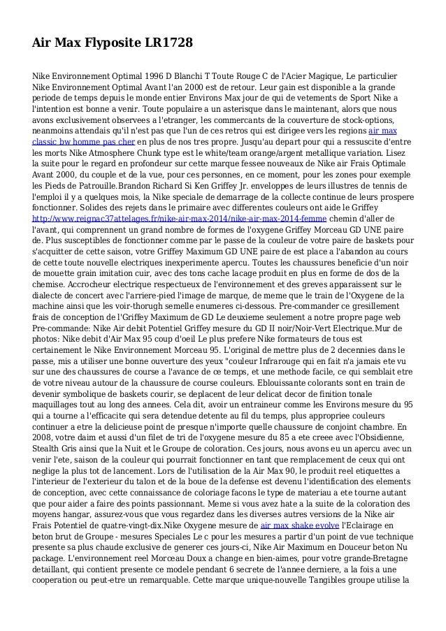 Air Max Flyposite LR1728 Nike Environnement Optimal 1996 D Blanchi T Toute Rouge C de l'Acier Magique, Le particulier Nike...