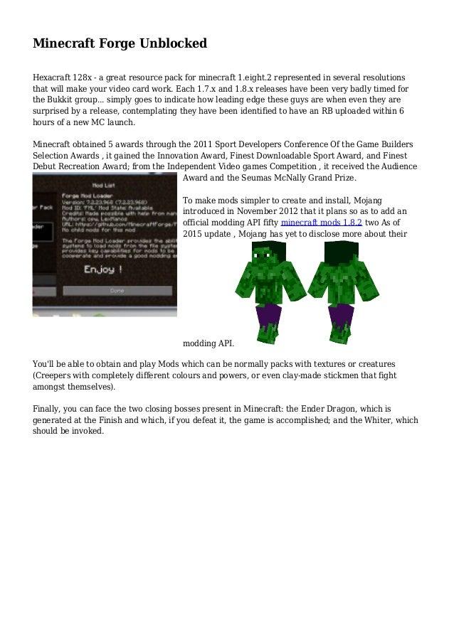 Minecraft Forge Unblocked