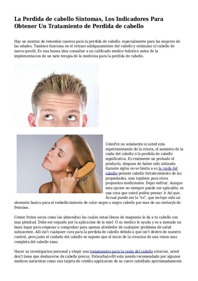 Caida del cabello en mujeres sintomas