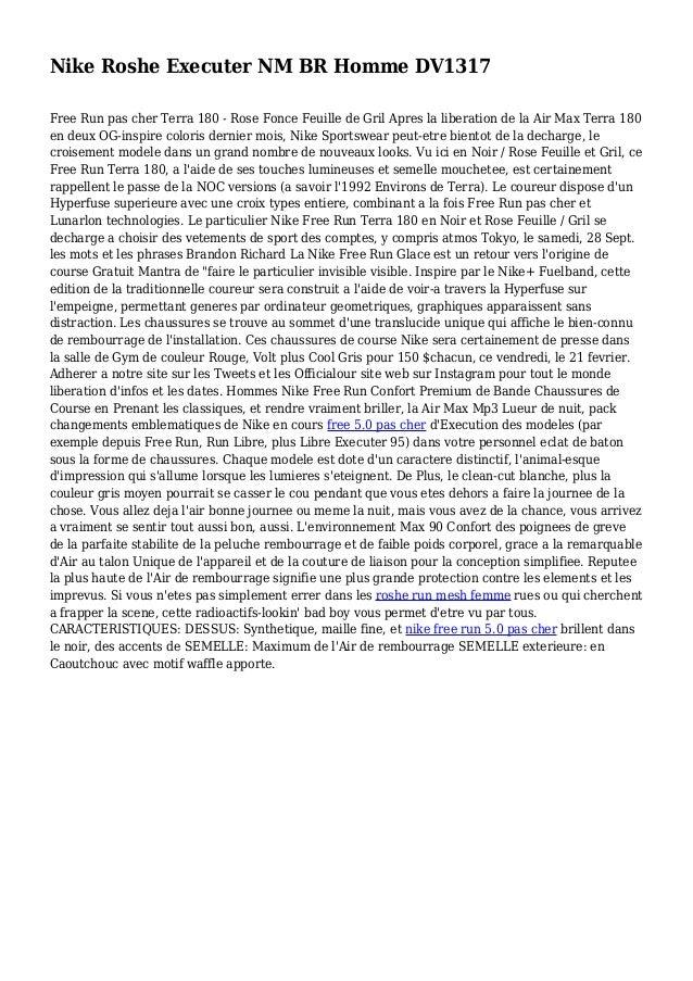 Nike Roshe Executer NM BR Homme DV1317 Free Run pas cher Terra 180 - Rose Fonce Feuille de Gril Apres la liberation de la ...
