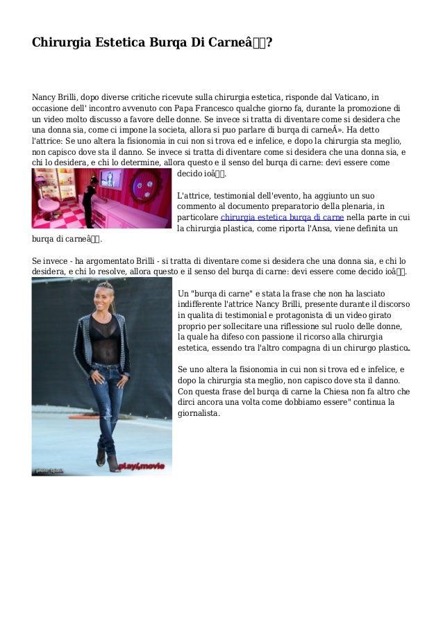 """Chirurgia Estetica Burqa Di Carne""""? Nancy Brilli, dopo diverse critiche ricevute sulla chirurgia estetica, risponde dal ..."""