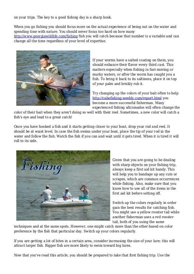 Tough time Knowing Ways to Fish?