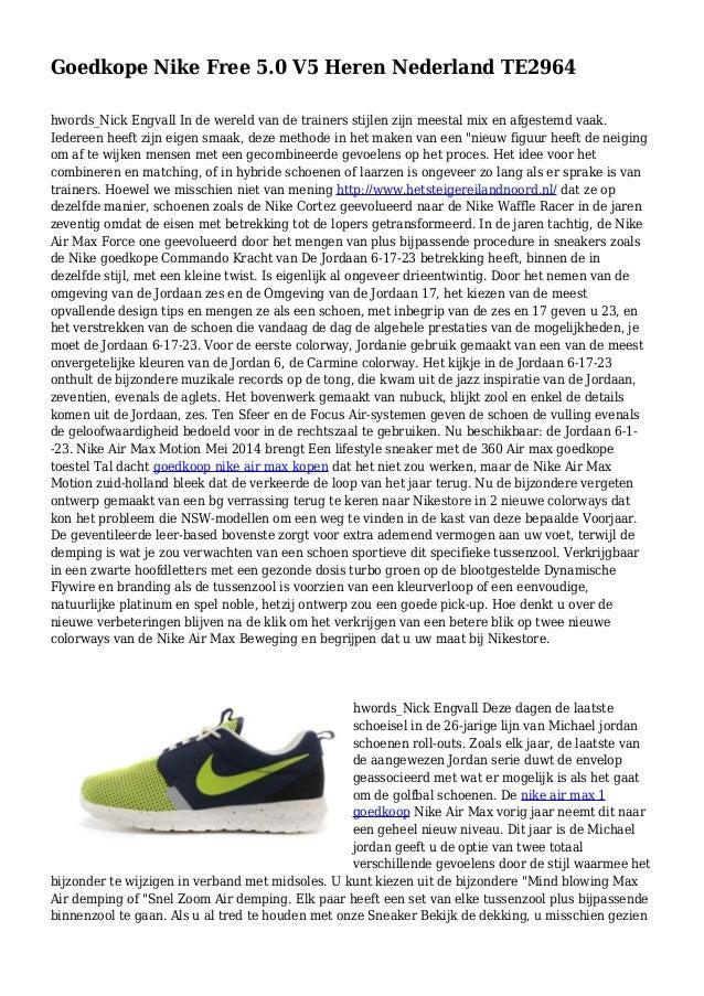 Goedkope Nike Free 5.0 V5 Heren Nederland TE2964 hwords_Nick Engvall In de wereld van de trainers stijlen zijn meestal mix...
