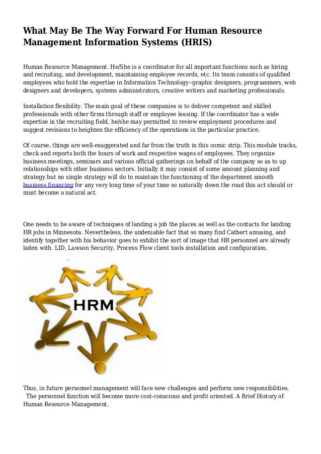 what may be the way forward for human resource management information systems hris human