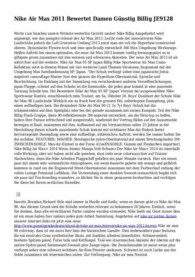 Nike Air Max 2011 Bewertet Damen Günstig Billig JE9128