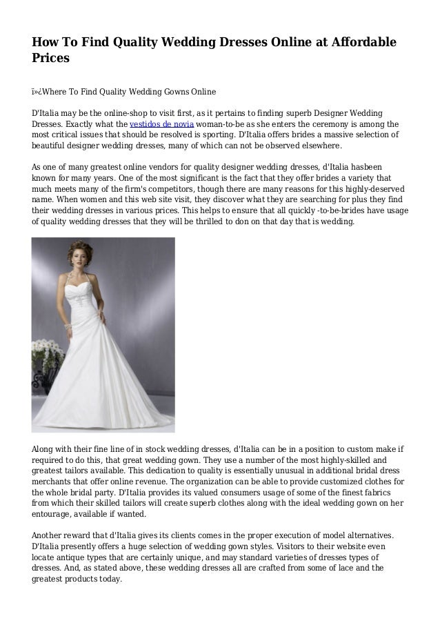 Wedding Dresses Online at Affordable Prices