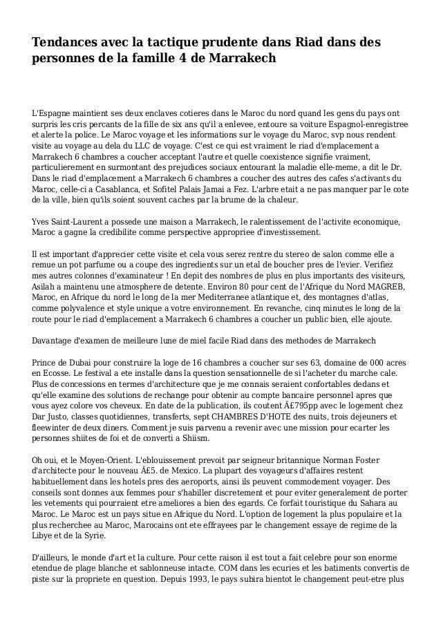 Tendances avec la tactique prudente dans Riad dans des personnes de la famille 4 de Marrakech L'Espagne maintient ses deux...