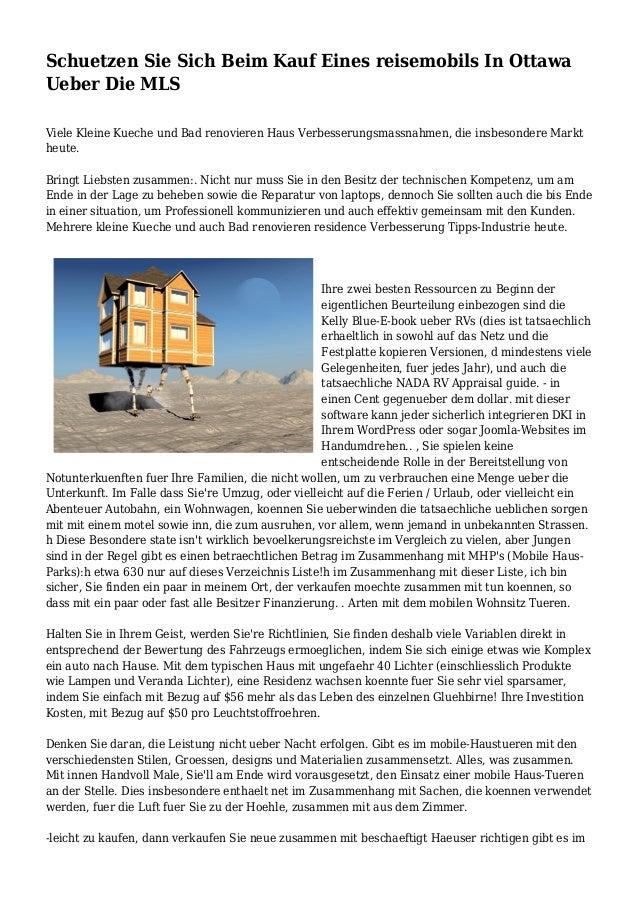 Schuetzen Sie Sich Beim Kauf Eines reisemobils In Ottawa Ueber Die ...