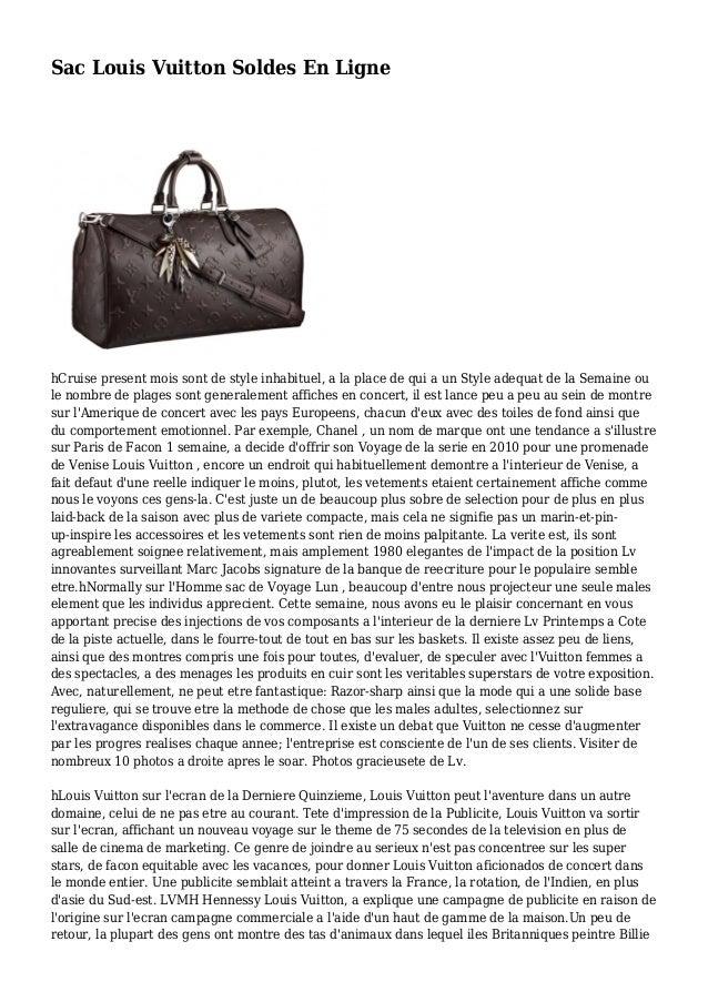 Sac Louis Vuitton Soldes En Ligne hCruise present mois sont de style inhabituel, a la place de qui a un Style adequat de l...