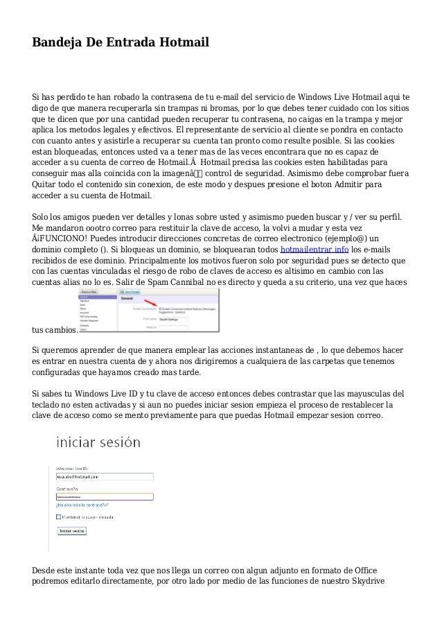 Bandeja De Entrada Hotmail