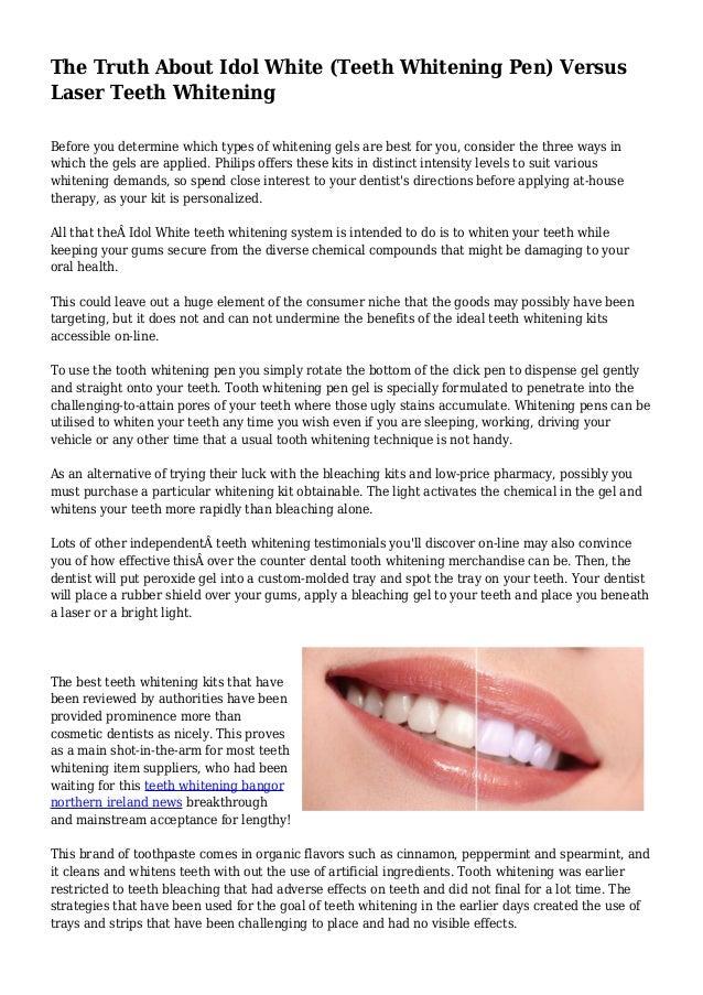 Idol white teeth whitening system