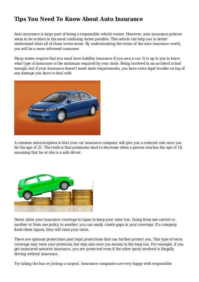 tips you need to know about auto insurance. Black Bedroom Furniture Sets. Home Design Ideas