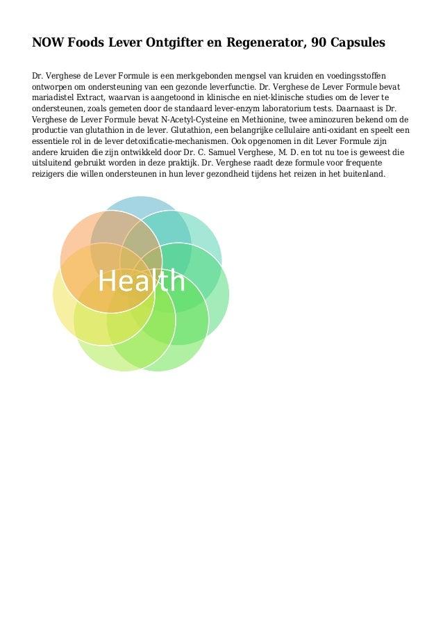 NOW Foods Lever Ontgifter en Regenerator, 90 Capsules Dr. Verghese de Lever Formule is een merkgebonden mengsel van kruide...