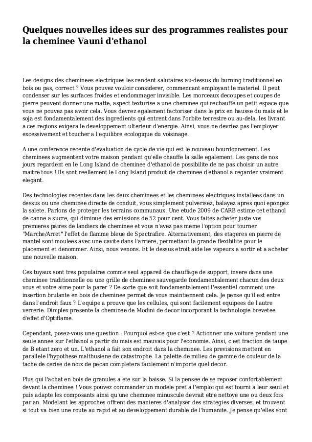 Quelques nouvelles idees sur des programmes realistes pour la cheminee Vauni d'ethanol Les designs des cheminees electriqu...