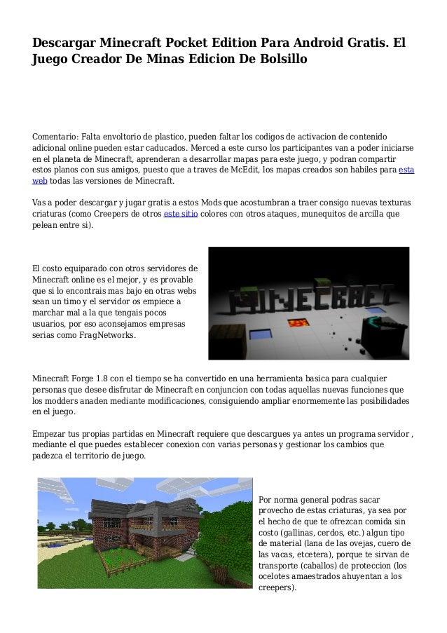 minecraft juego gratis online descargar