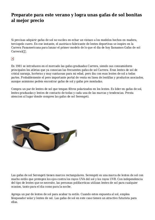 61edab4653 Preparate para este verano y logra unas gafas de sol bonitas al mejor  precio Si precisas Los pares de lentes ...
