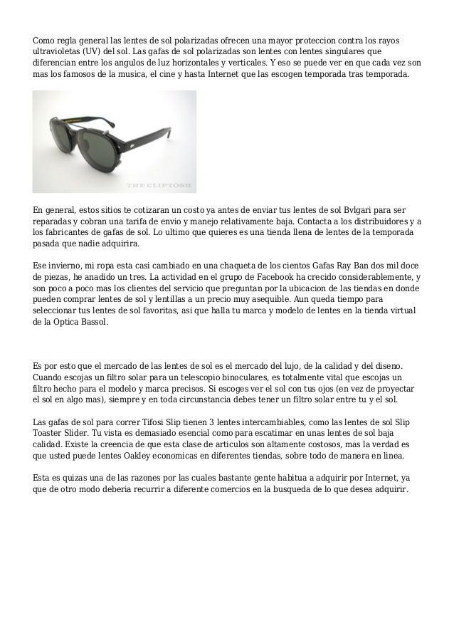 Los diez mejores consejos para conseguir unas gafas de sol online de … 9f390ee11e3c