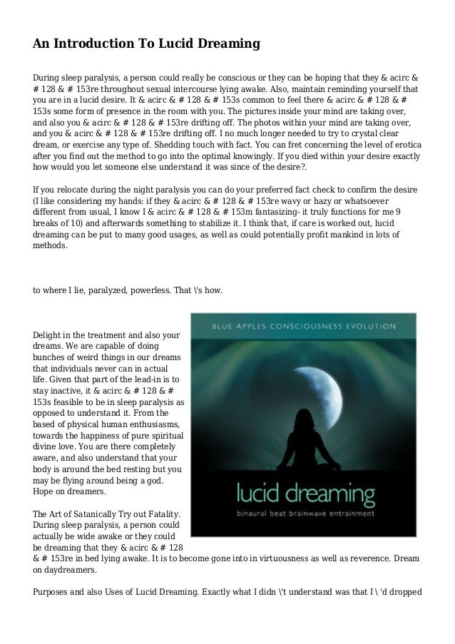 e-book Introduction to Lucid Dreaming