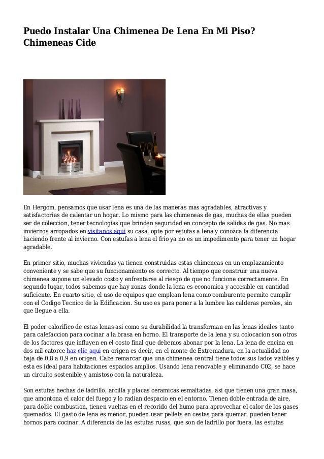 Instalacion de chimeneas de lea perfect cocinas de lea - Instalar chimenea de lena ...