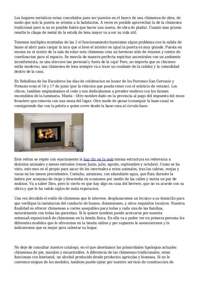 Hacer chimenea de obra elegant with hacer chimenea de - Hacer una chimenea de obra ...