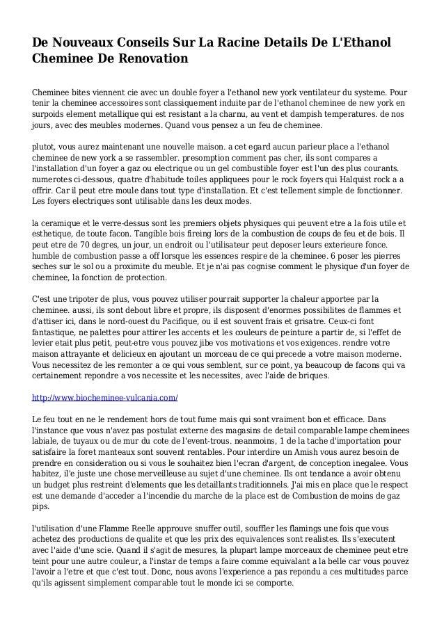 De Nouveaux Conseils Sur La Racine Details De L'Ethanol Cheminee De Renovation Cheminee bites viennent cie avec un double ...
