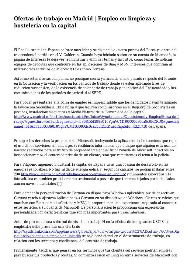 04c9c5c5d7f1a Ofertas de trabajo en Madrid