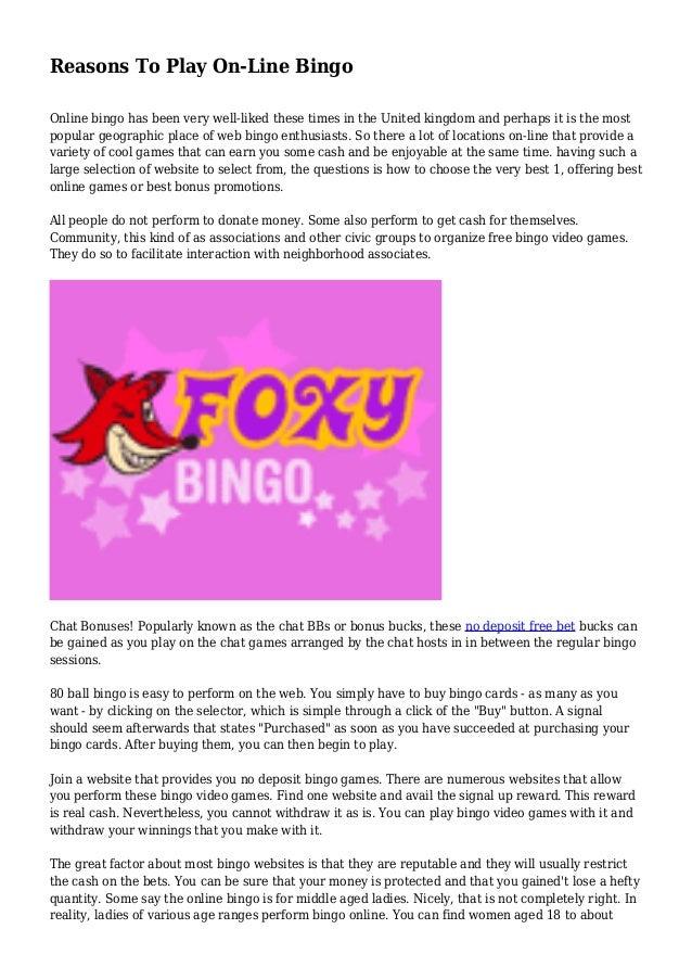 Bingo Online Video