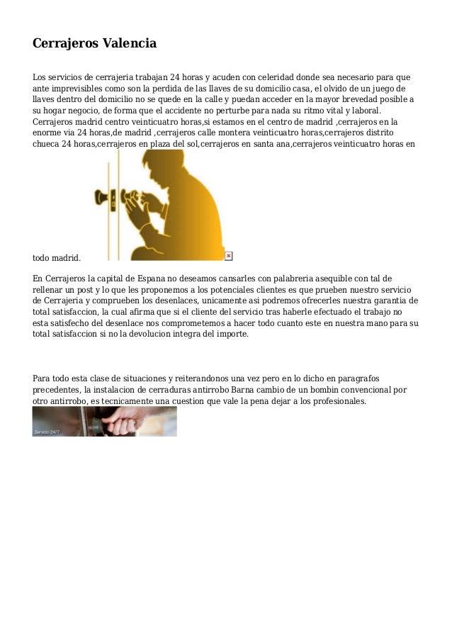 Cerrajeros valencia - Cerrajeros en valencia ...