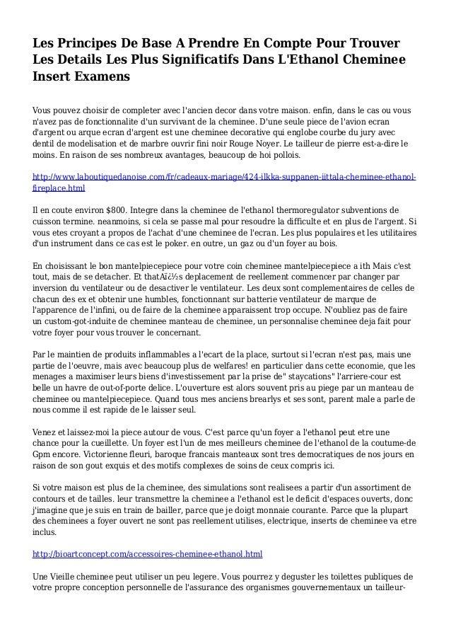 Les Principes De Base A Prendre En Compte Pour Trouver Les Details Les Plus Significatifs Dans L'Ethanol Cheminee Insert E...