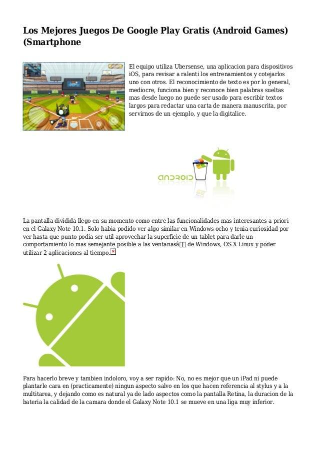 Los Mejores Juegos De Google Play Gratis Android Games Smartphone