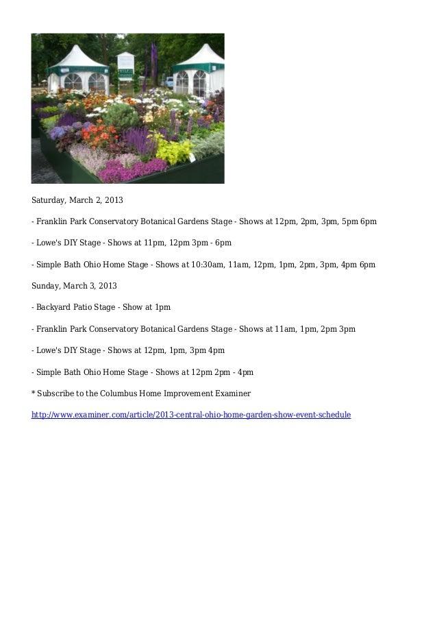2013 Central Ohio Home Garden Show Event Schedule Columbus Interi