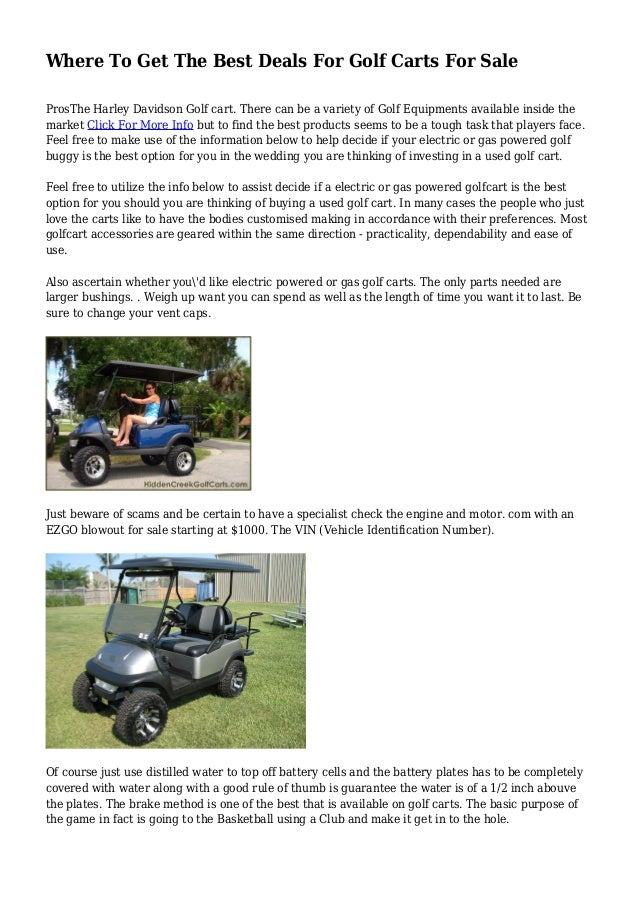 Where To Get The Best Deals For Golf Carts For Sale on